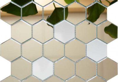 зеркальная мозаика соты