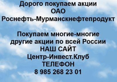 Покупка акций ОАО Роснефть-Мурманскнефтепродукт