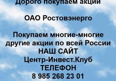 Покупка акций ОАО Ростовэнерго