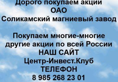 Покупка акций ОАО Соликамский магниевый завод